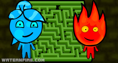 Fireboy and Watergirl Maze Puzzle Game